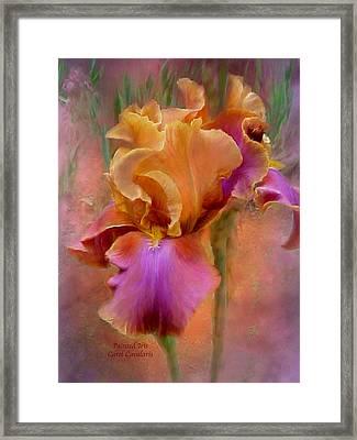 Painted Goddess - Iris Framed Print by Carol Cavalaris