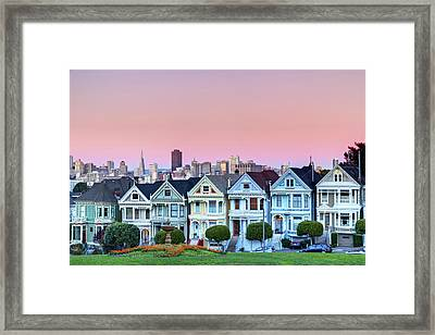 Painted Ladies At Dusk Framed Print by Photo by Jim Boud