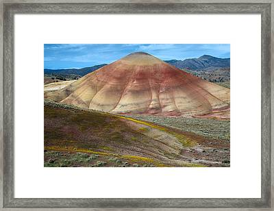 Painted Mountain Framed Print by Leland D Howard