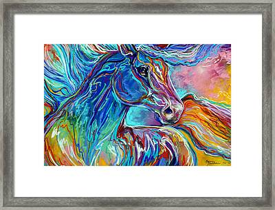 Painted Pony Abstract In Pastel Framed Print by Marcia Baldwin