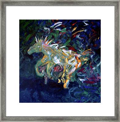 Painted Pony Framed Print by Lance Headlee