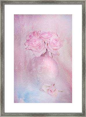 Painted Roses Framed Print by Theresa Tahara
