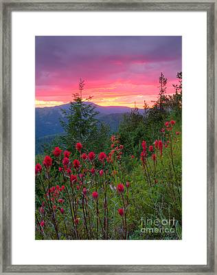 Painted Sky Framed Print by Idaho Scenic Images Linda Lantzy