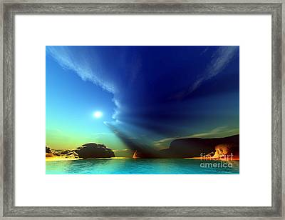 Painted Veil Framed Print by Corey Ford