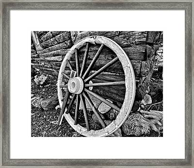 Painted Wagon Framed Print by Ed Boudreau