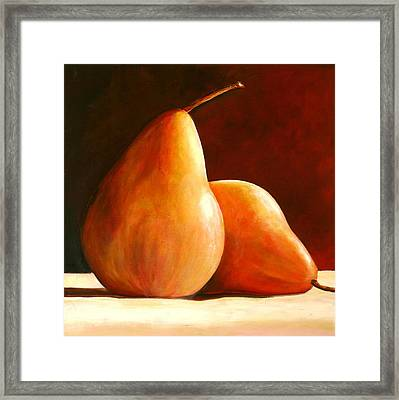 Pair Of Pears Framed Print by Toni Grote