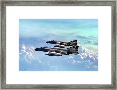 Pair Of Wolves Framed Print by Peter Chilelli