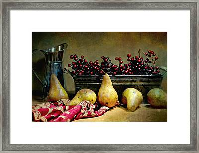 Pairs Of Pears Framed Print by Diana Angstadt