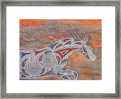 Paisley Spirit Framed Print by Susie WEBER