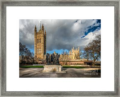 Palace Of Westminster Framed Print by Adrian Evans