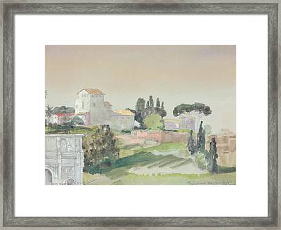 Palatine Hill From The Colosseum Framed Print by Arthur Bowen Davies