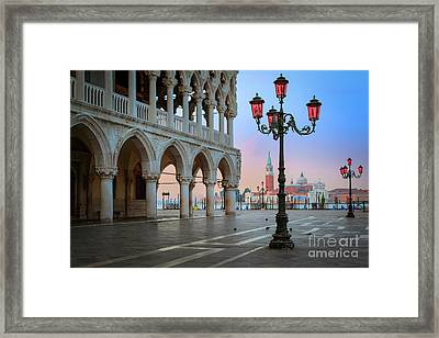 Palazzo Ducale Framed Print by Inge Johnsson