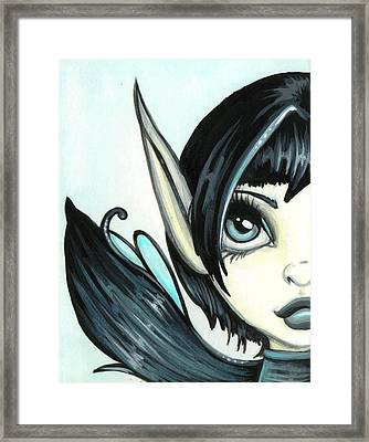 Pale Blue Fae Framed Print by Elaina  Wagner