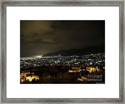 Palermo Dall'alto Framed Print by Mirko Giannetti