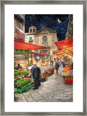 Palermo Market Place Framed Print by Juli Scalzi