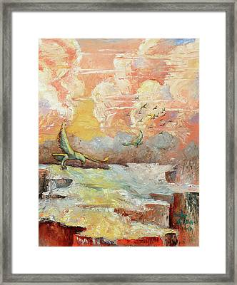 Palette Knife Flight Framed Print by Carolyn Coffey Wallace