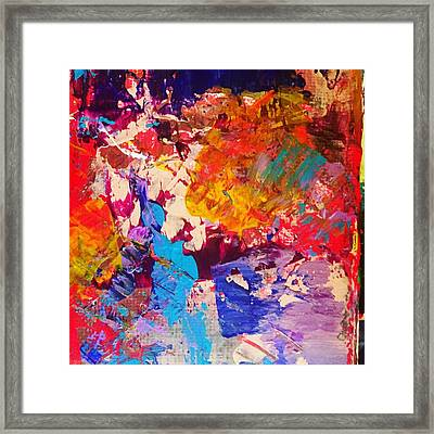 Palette Knife Galore Framed Print by Malin Schramm