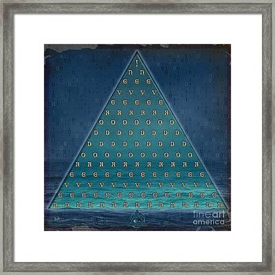 Blue Grapes Framed Print featuring the mixed media Palindrome Pyramid V1-enigmatic by Bedros Awak