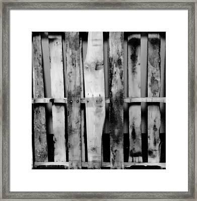 Pallet Framed Print by Hans Kaiser