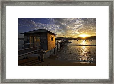 Palm Beach Sunset Framed Print by Avalon Fine Art Photography