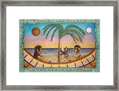 Palm Boats Framed Print by Sally Appleby