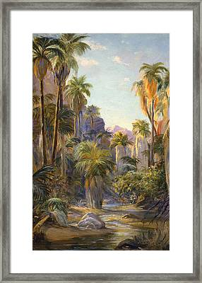 Palm Canyon Framed Print by Lewis A Ramsey