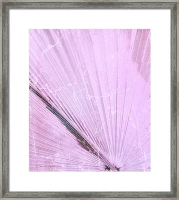 Palm Frond Pink Lh Framed Print by Marvin Spates