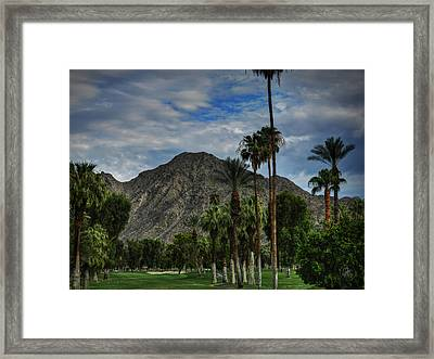 Palm Springs Hdr 011 Framed Print by Lance Vaughn