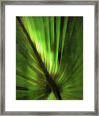 Palmetto Embrace-green Textured Framed Print by Marvin Spates
