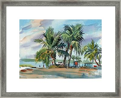 Palms On Sanibel Framed Print by Donald Maier