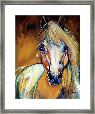 Palomino Wild Abstract Framed Print by Marcia Baldwin