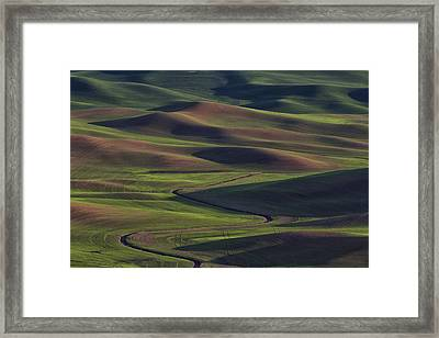 Palouse Abstract 1 Framed Print by Mark Kiver