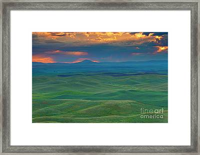Palouse Stormrise Framed Print by Mike Dawson