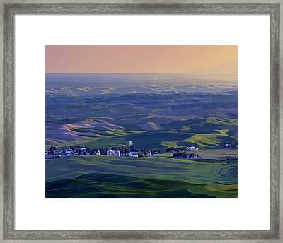 Palouse Sunset - Cashup - Washington Framed Print by Nikolyn McDonald