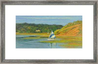 Pamet Harbor Early Evening Framed Print by Phyllis Tarlow