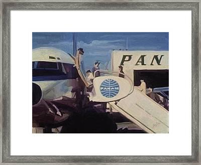 Pan American Airways Boeing 707 Framed Print by Nop Briex