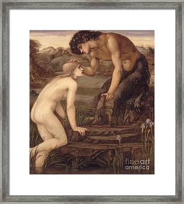 Pan And Psyche Framed Print by Sir Edward Burne-Jones