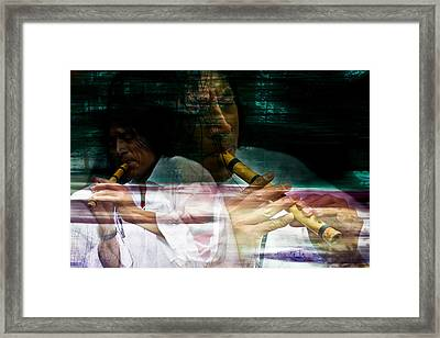 Pan Flute Melody Framed Print by Mark Courage