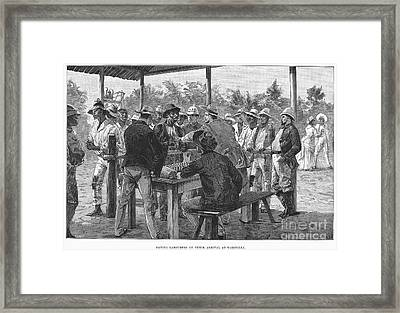 Panama Canal, 1888 Framed Print by Granger