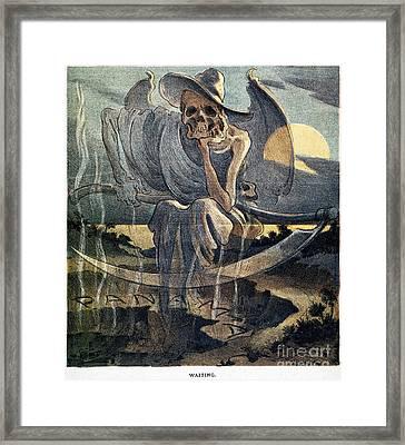 Panama Canal Cartoon, 1904 Framed Print by Granger