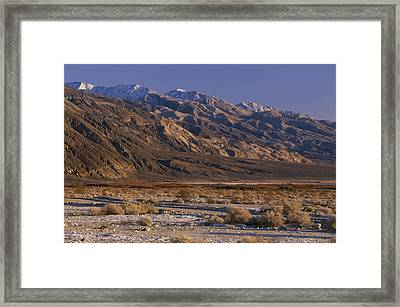 Panamint Valley And Range Framed Print by Soli Deo Gloria Wilderness And Wildlife Photography