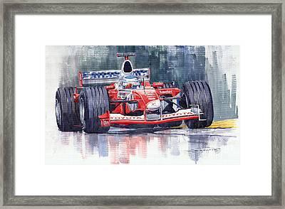Panasonic Toyota Tf102 F1 2002 Mika Salo Framed Print by Yuriy  Shevchuk