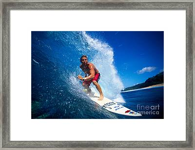 Pancho Makes The Wave Framed Print by Vince Cavataio - Printscapes