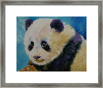 Panda Cub Framed Print by Michael Creese
