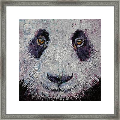 Panda Framed Print by Michael Creese