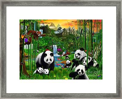 Panda's Paradise Framed Print by Gerald Newton