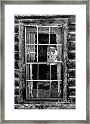 Panes To The Past Framed Print by Sandra Bronstein