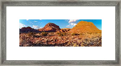Panorama Of O'keefe Country Near Ghost Ranch - Abiquiu Northern New Mexico Framed Print by Silvio Ligutti
