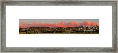Panoramic Afterglow Framed Print by Robert Bales