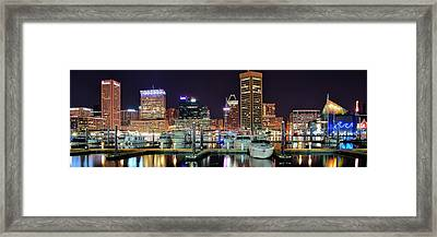 Panoramic Baltimore Framed Print by Frozen in Time Fine Art Photography